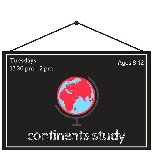 Around the World Continents Study